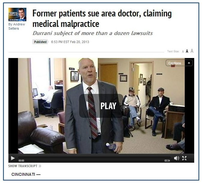 Cincinnati medical malpractice story shows importance of chiropractic care